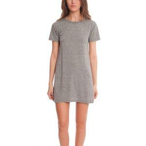 Current Elliott Knit Tee Dress T-Shirt Gray Small